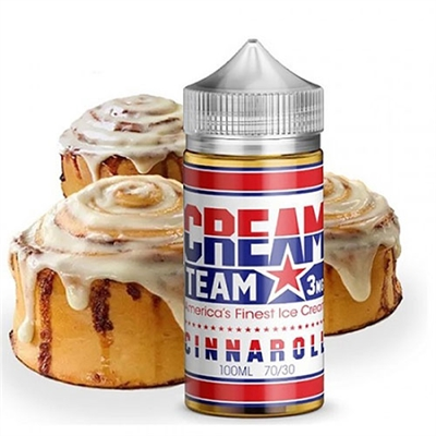 Cinnaroll is a rich, cinnamon roll dough that's been perfectly blended into rich vanilla ice cream. Size - 100ML Nicotine Strength - 3MG VG - 70 PG - 30 Package Contents 1 x Cream Team - cinnaroll - 100ML