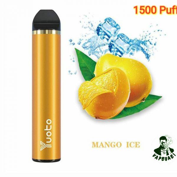Yuoto 5 Disposable Vape Device 1500 Puffs Mango Ice