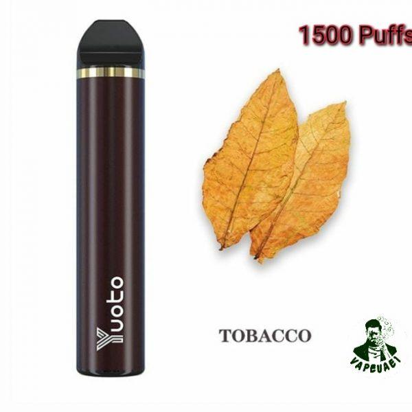 Yuoto 5 Disposable Vape Device 1500 Puffs Tabacco