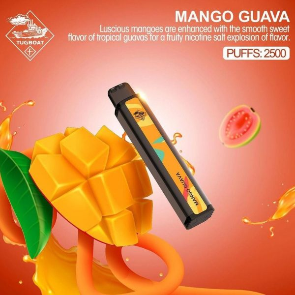 TUGBOAT XXL DISPOSABLE PODS 2500 PUFFS MANGO GUAVA
