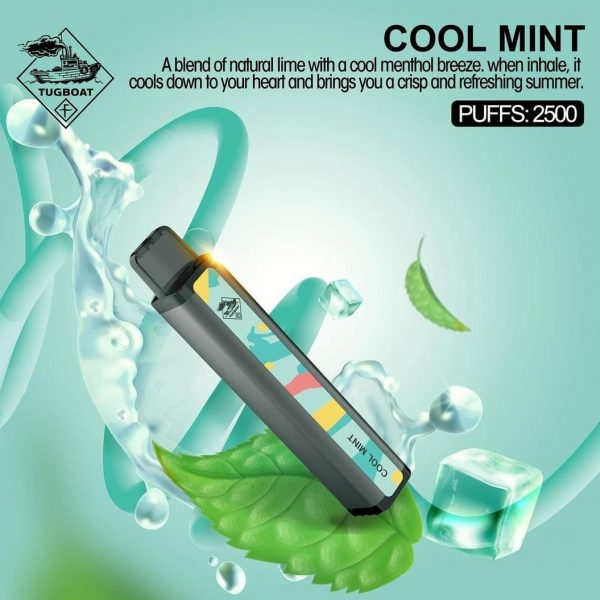 TUGBOAT XXL DISPOSABLE PODS 2500 PUFFS COOL MINT