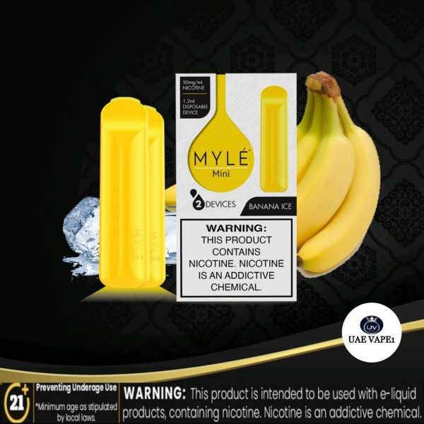 myle mini disposable pod banana ice