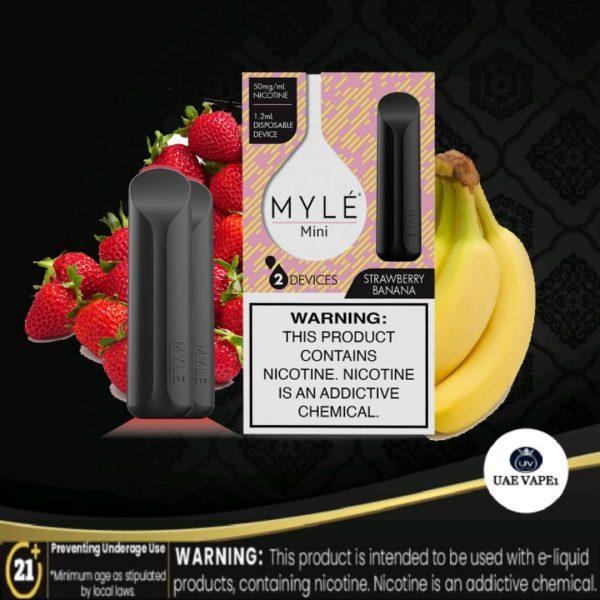 myle mini disposable pod strawberry banana