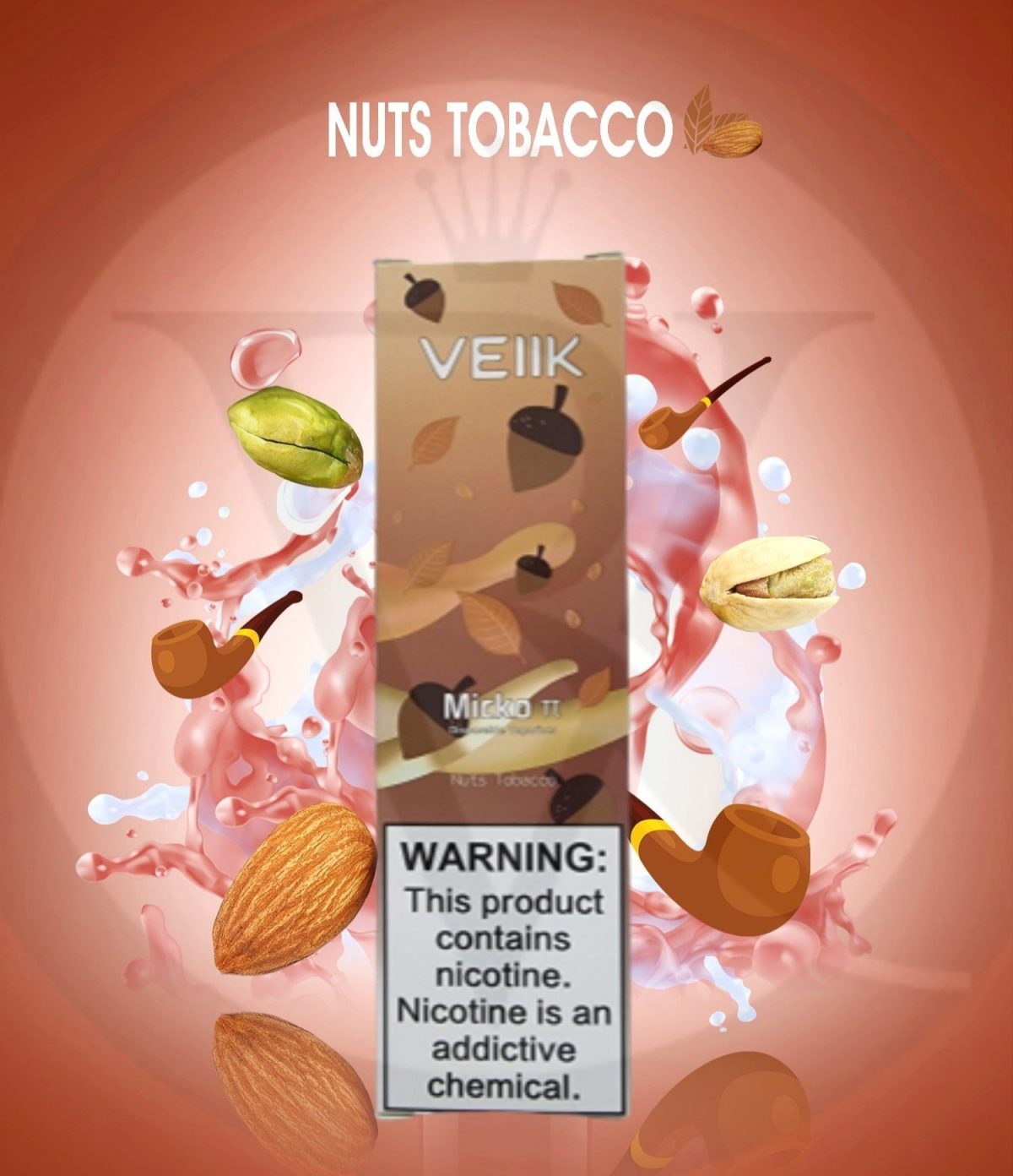 Veiik micko tt disposable nuts tobacco