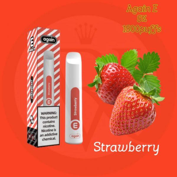 Again E disposable pod Strawberry 1500 PUFFS