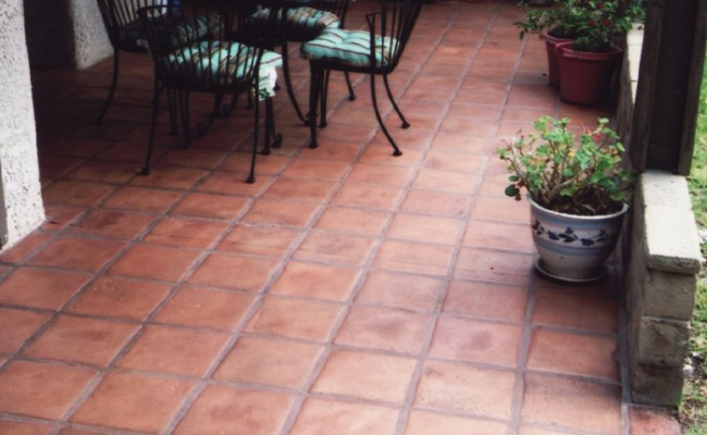 mexican paver saltillo patio