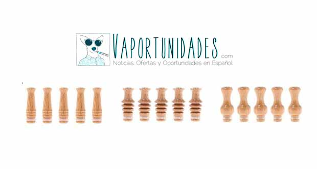 boquillas driptips wood madera
