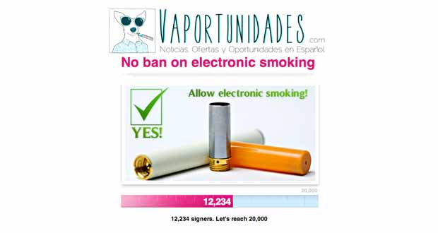 avaaz firmas cigarrillo electronico union