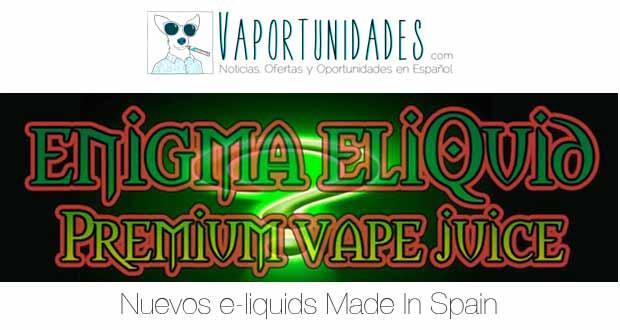 enigma eliquid made in spain matt vapeo.es
