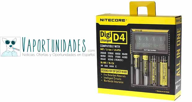fasttech nitecore digicharger d4 cargador pilas baterias