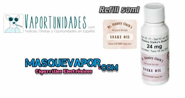 masquevapor refill snake oil nuevos productos