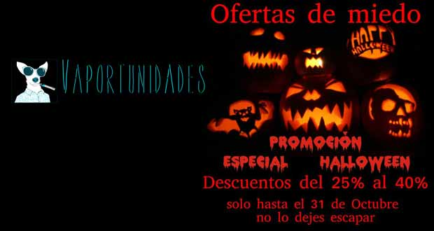 vapor madrid ofertas halloween