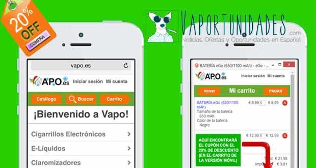 vapo.es version movil tienda online