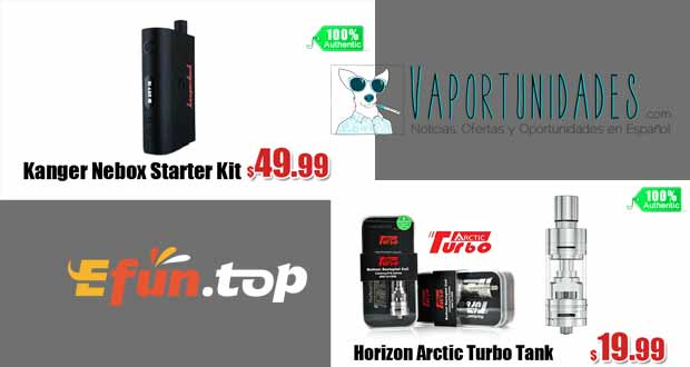 horizon arctic turbo, kanger nebox