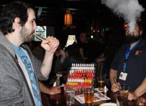 vapers in bar