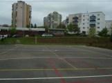 Sportplatz vor der Eröffnung