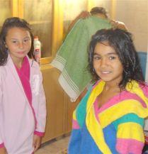 Mädchen nach der Dusche