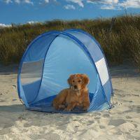 Solstrålar och olika solskydd för hundar