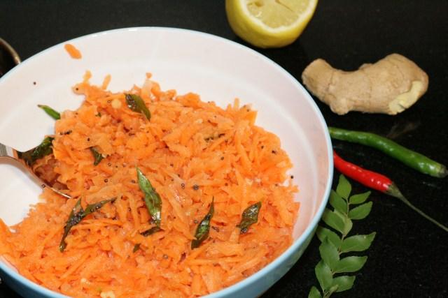 Bold colours, crisp and refreshing taste - Carrot Koshimbir
