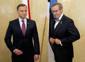 Andrzej Duda, forseti Póllands, og Toomas Hendrik Ilves, forseii Eistlands,