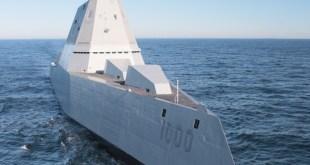 Tundurspillirinn USS Zimmwalt er hannaður til að erfitt sé að sjá hann á ratsjá.