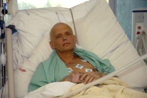 Alexander  Litvinenko skömmu fyrir dauða sinn.