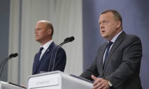 Peter Christensen varnarmálaráðherra og Lars Løkke Rasmussen forsætisráðherra  Dana.