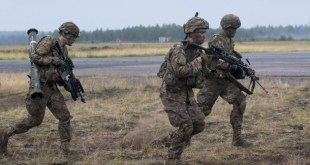 Bandarískir hermenn á NATO-æfingu í Eystrasaltsríki.