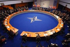 Frá toppfundi NATO í Varsjá,
