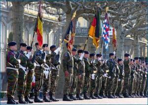 Liðsmenn Eurocorps í Strassborg.