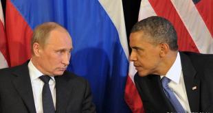Vladimír Pútín og Barack Obama.