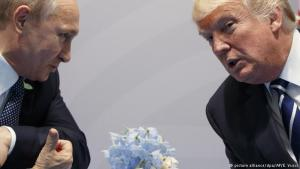 Vladimír Pútin og Donald Trump.