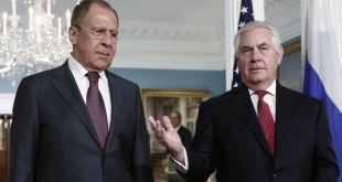 Sergei Lavrov, utanríkisráðherra Rússa, og Rex Tillerson, utanríkisráherra Bandaríkjanna.