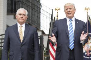 Rex Tillerson og Donald Trump.