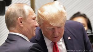 Valdimír Pútín og Donald Trump.