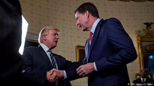 Donald Trump og James Comey.