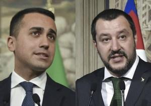 Luigi Di Maio og Matteo Salvini.