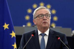 Jean-Claude Juncker flytur stefnuræðu sína.