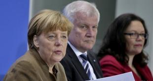 Angela Merkel, Horst Seehofer, Andrea Nahles.