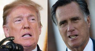 Donald Trump og Mitt Romney.