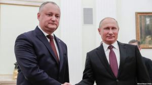 Igor Dodon, forseti Morldóvu. og Vladimir Pútin, forseti Rússlands.
