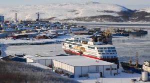 Höfnin í Kirkenes í Noregi.