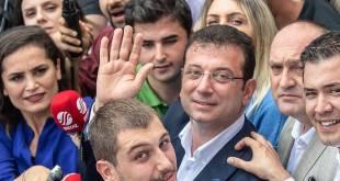 Ekrem Imamoglu. sigurvegari kosninganna í Istanbúl.
