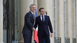 Jens Stoltenberg og Emmanuel Macron í París 28. nóvember 2019.