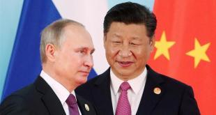 Vladimir Pútín Rússlandsforseti  og Xi Jinping Kínaforseti.