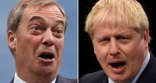 Nigel Farage (.v. og Boris Johnson.