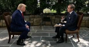 Chris Wallace ræðir við Donald Trump á Fox-sjónvarpsstöðinni 19. júlí 2020.