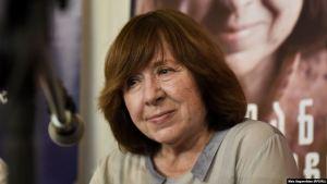 Svetlana Alexievitsj, rithöfundur í Hvíta-Rússlandi sem hlaut bókmenntaverðlaun Nóbels árið 2015.