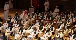Sendinefnd Talibana á fundinum í Doha 12. september 2020.