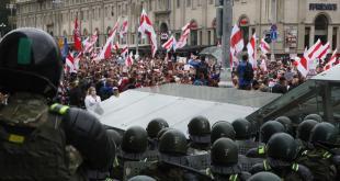 Mótmæli í Minsk 6. september 2020.